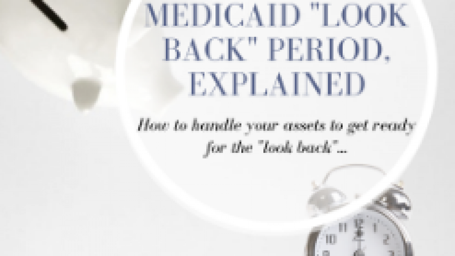 Medicaid look back period explained in simple terms with this inforgraphic.