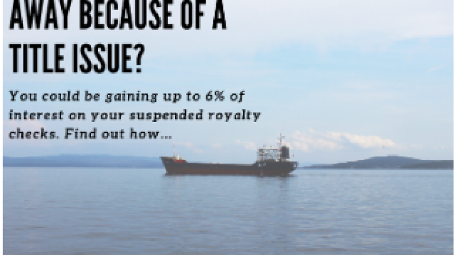 Earn 6 percent on suspended royalty checks.